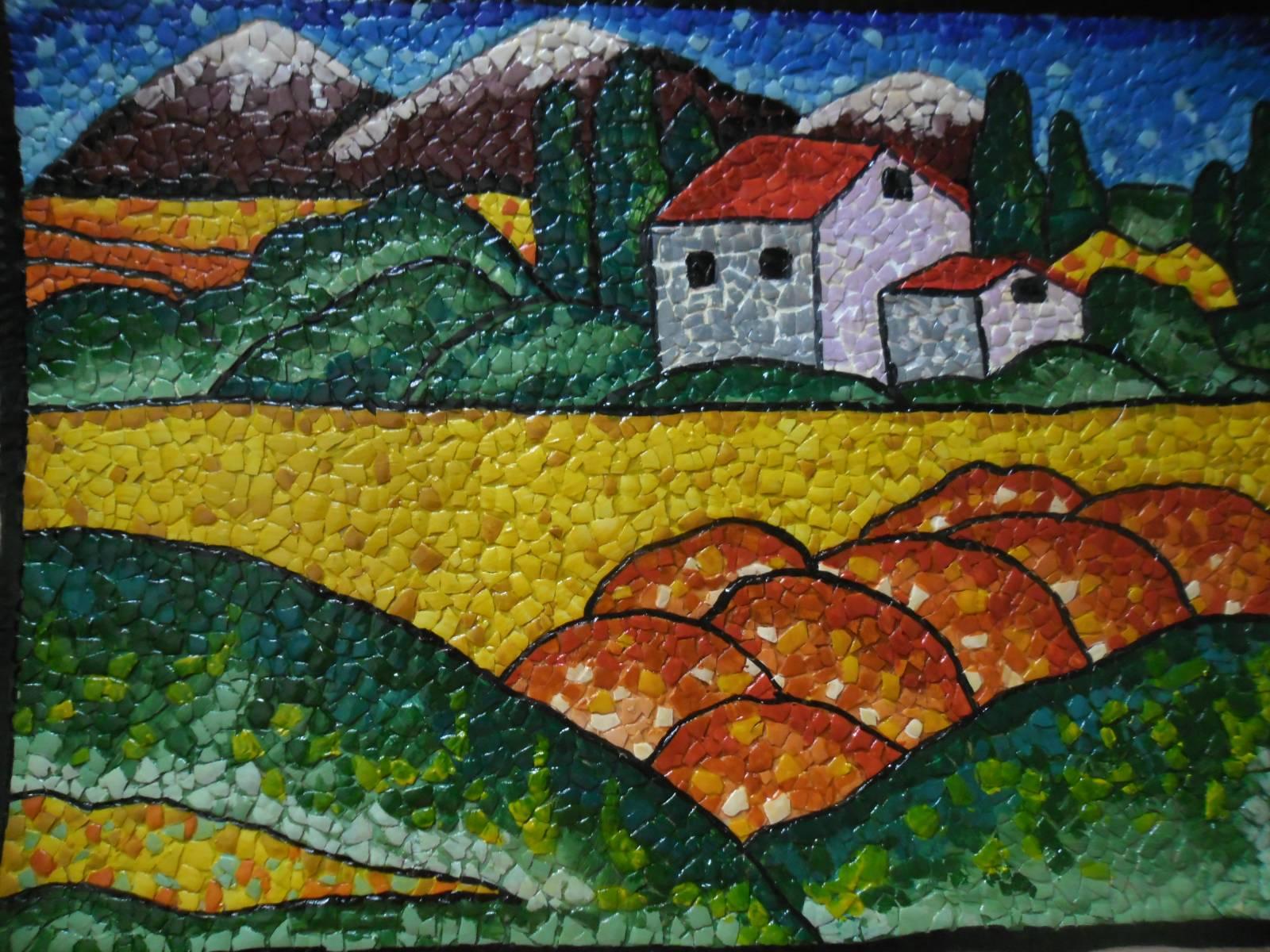 Поделки мозаика из скорлупы яиц